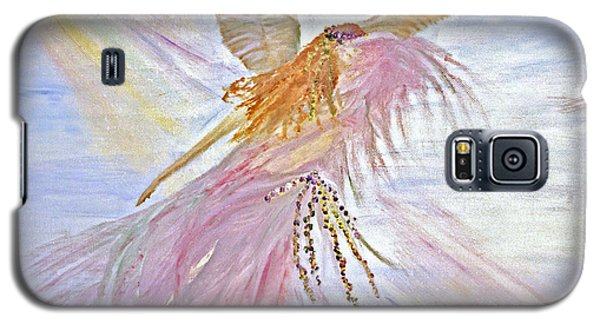 Angel-keeper Of The Rainbow Galaxy S5 Case by Joy Braverman