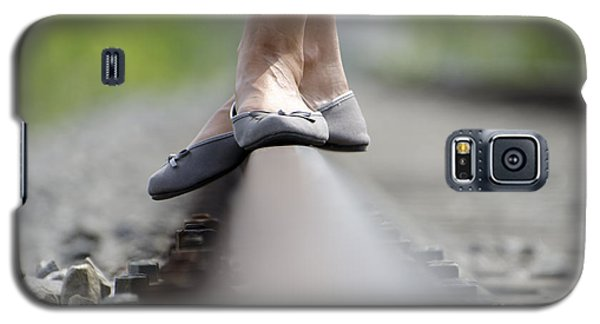Balance On Railroad Tracks Galaxy S5 Case