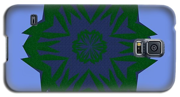 Blue And Green Kaleidoscope Galaxy S5 Case