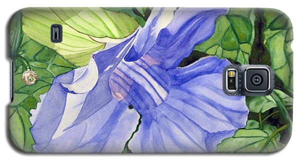 Galaxy S5 Case featuring the painting Blue Sky Vine by Debi Singer