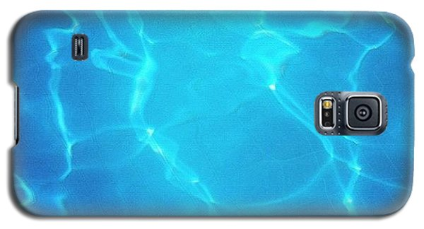 Blue Galaxy S5 Case - Blue Water Surface - Swimming Pool by Matthias Hauser