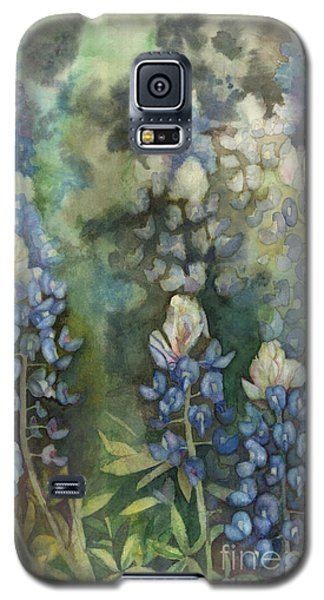 Galaxy S5 Case featuring the painting Bluebonnet Blessing by Karen Kennedy Chatham