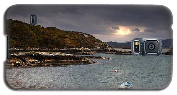 Boat In Water, Loch Sunart, Scotland Galaxy S5 Case