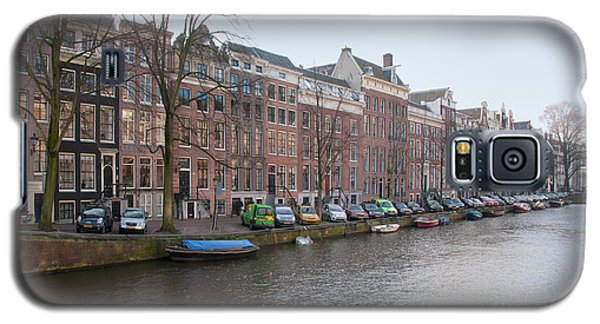 Galaxy S5 Case featuring the digital art City Scenes From Amsterdam by Carol Ailles