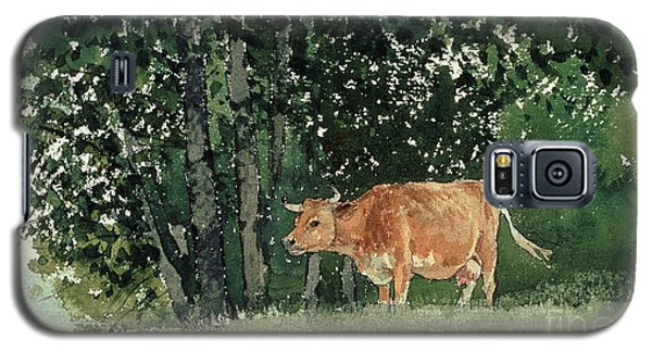 Cow In Pasture Galaxy S5 Case by Winslow Homer