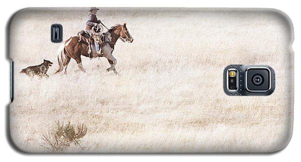 Cowboy And Dog Galaxy S5 Case