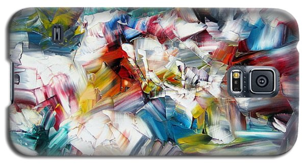 Galaxy S5 Case featuring the painting Crystal Layers by Kathy Sheeran