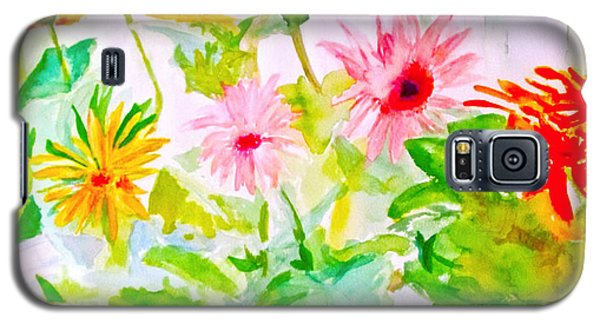 Galaxy S5 Case featuring the painting Daisy Daisy by Beth Saffer