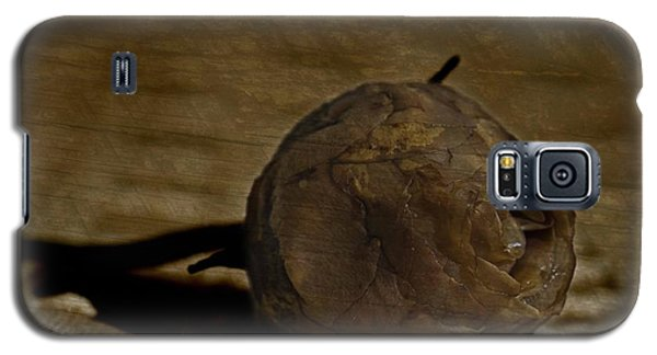 Galaxy S5 Case featuring the photograph Dead Rosebud by Steve Purnell