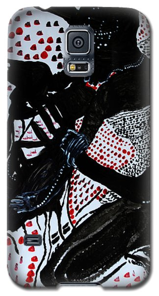 Galaxy S5 Case featuring the painting Dinka Bride by Gloria Ssali