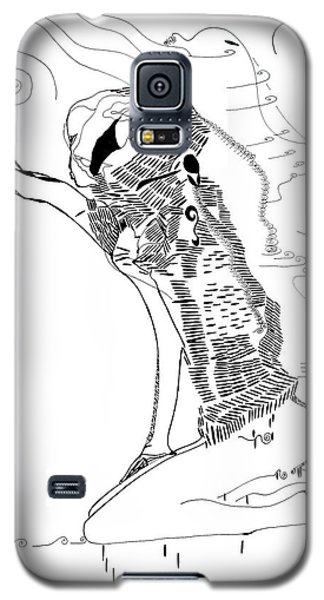 Galaxy S5 Case featuring the drawing Dinka Dance - South Sudan by Gloria Ssali