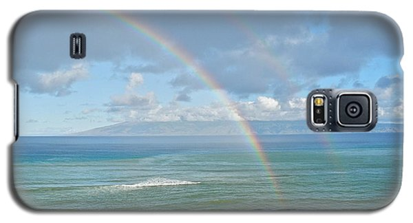 Galaxy S5 Case featuring the photograph Double Rainbow In Maui by Kirsten Giving