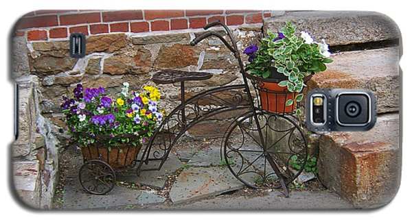 Flower Bicycle Basket Galaxy S5 Case