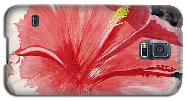 Galaxy S5 Case featuring the painting Happy Hibiscus by Debi Singer