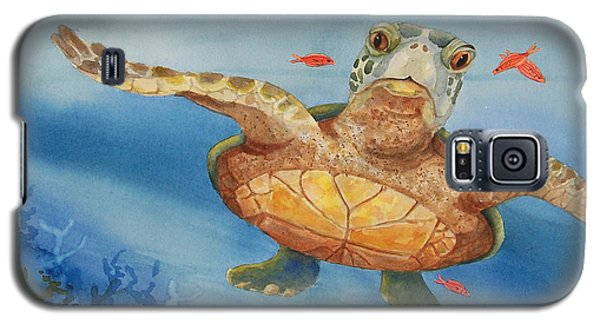 Henry C. Turtle-lunch With Friends Galaxy S5 Case by Joy Braverman
