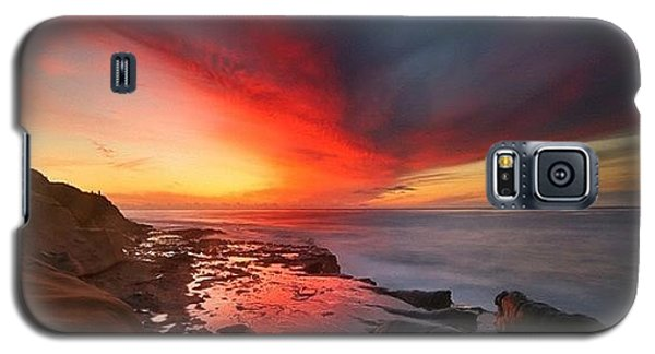 Galaxy S5 Case - Long Exposure Sunset In La Jolla by Larry Marshall