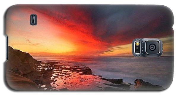 Long Exposure Sunset In La Jolla Galaxy S5 Case