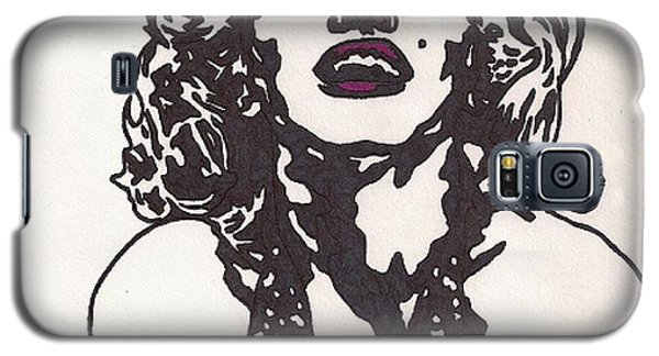 Galaxy S5 Case featuring the drawing Marilyn Monroe by Jeremiah Colley