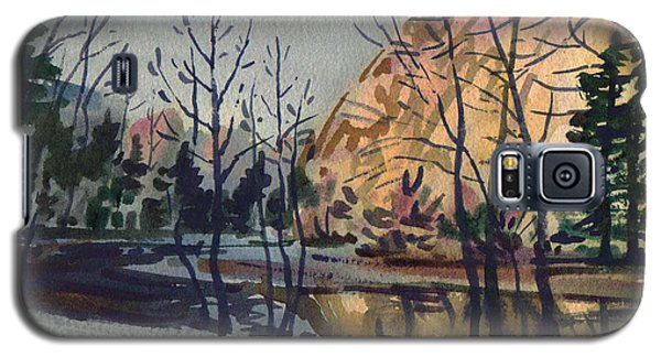 Galaxy S5 Case featuring the painting Merced River In Winter by Donald Maier