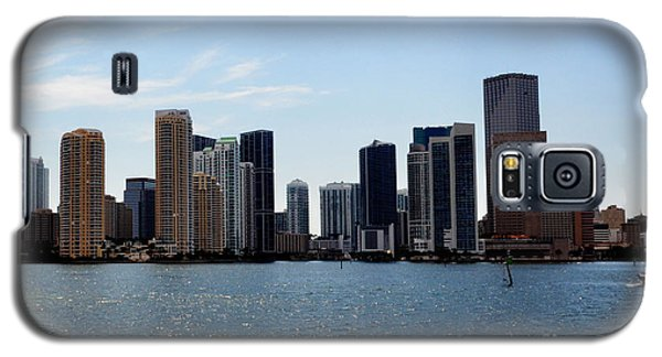 Galaxy S5 Case featuring the photograph Miami Skyline by Pravine Chester