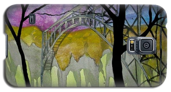 Galaxy S5 Case featuring the painting New River George Bridge by Amy Sorrell