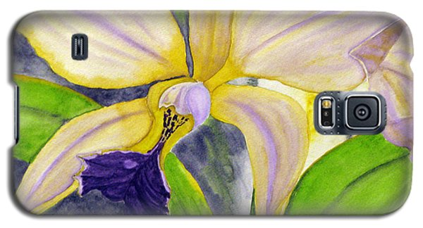 Galaxy S5 Case featuring the painting No Ordinary Orchid by Debi Singer