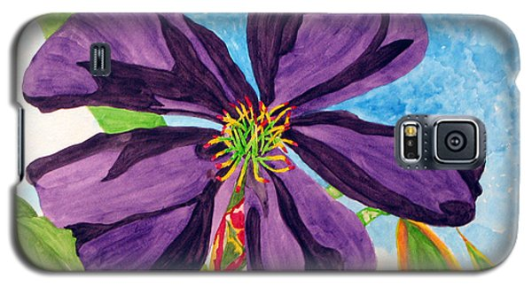 Galaxy S5 Case featuring the painting Our Very Bold Tibouchina by Debi Singer