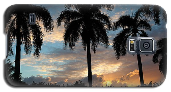 Galaxy S5 Case featuring the photograph Palm Tree Silhouette by Karen Lee Ensley
