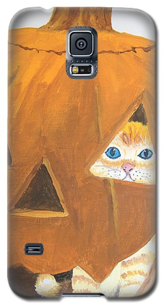 Galaxy S5 Case featuring the painting Peekaboo by Norm Starks