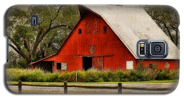 Galaxy S5 Case featuring the photograph Red Barn by Joan Bertucci