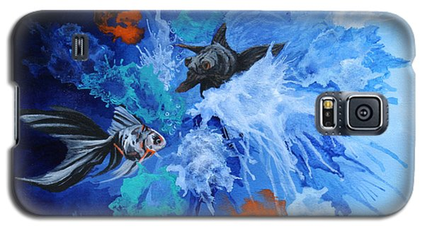 Galaxy S5 Case featuring the painting Richies Fish by Wendy Shoults