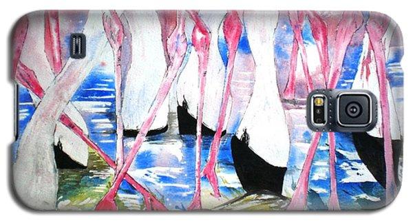 Rift Valley Flamingo Feeding Galaxy S5 Case