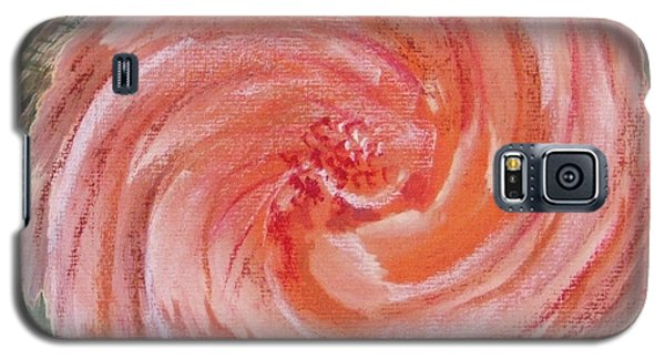Galaxy S5 Case featuring the painting Rose In A Twirl by Richard James Digance