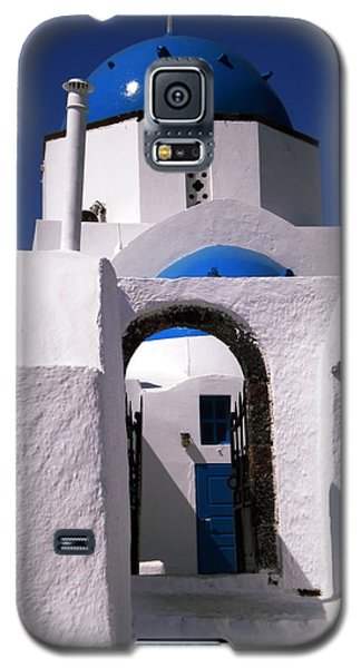 Galaxy S5 Case featuring the photograph Santorini Church Greece by Colette V Hera  Guggenheim