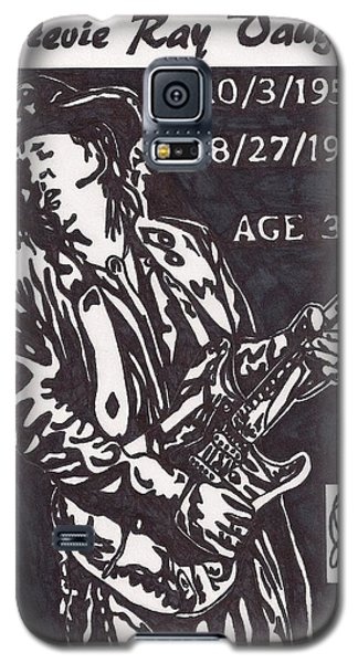 Galaxy S5 Case featuring the drawing Stevie Ray Vaughn by Jeremiah Colley