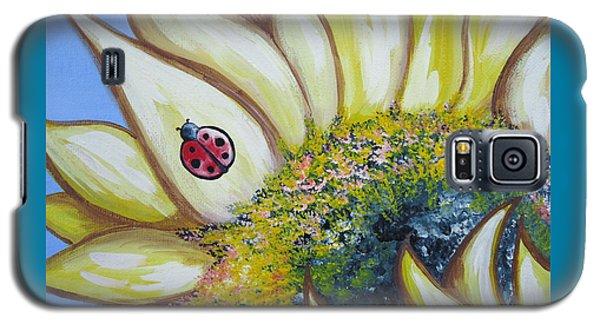 Sunflower And Ladybug Galaxy S5 Case