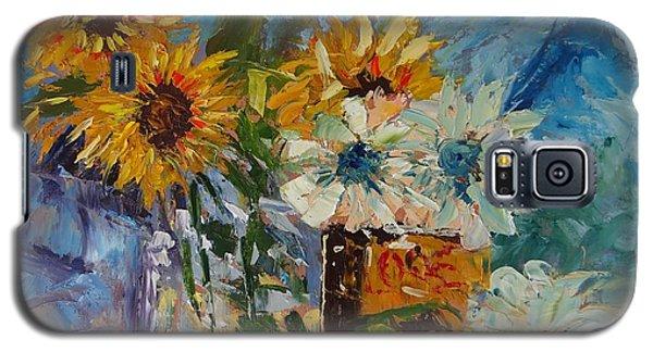 Sunflower Still Life Galaxy S5 Case by Carol Berning