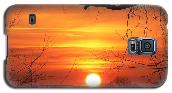 Galaxy S5 Case featuring the photograph Sunrise In Tennessee by EricaMaxine  Price