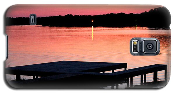 Galaxy S5 Case featuring the photograph Sunset View From Dockside by Kathy  White