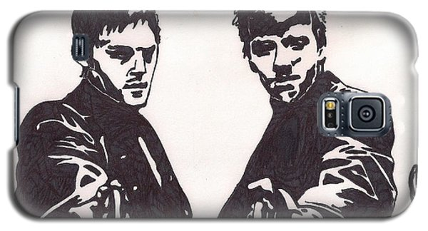 Galaxy S5 Case featuring the drawing The Boondock Saints by Jeremiah Colley
