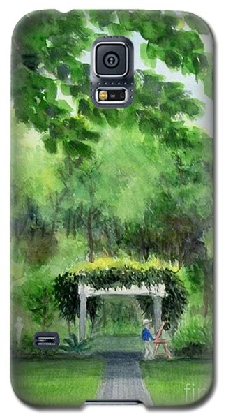 Galaxy S5 Case featuring the painting the garden at the wellers carriage house in Saline  Michigan 1 by Yoshiko Mishina