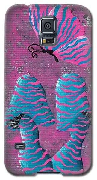 Galaxy S5 Case featuring the painting The Zebra Effect by Oddball Art Co by Lizzy Love