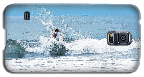 Galaxy S5 Case featuring the photograph Through The Wave Blues by Maureen E Ritter