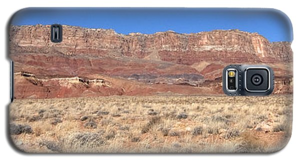Galaxy S5 Case featuring the photograph Vermillion Cliffs Panorama by Bob and Nancy Kendrick