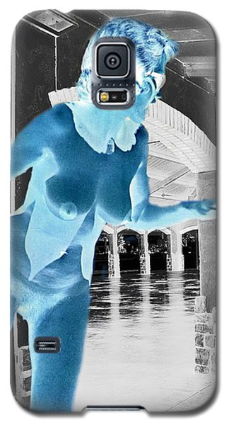 Galaxy S5 Case featuring the photograph Vintage Nude In An Even More Vintage Building by Louis Nugent