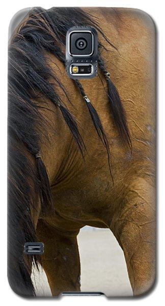 Galaxy S5 Case featuring the photograph War Horse by Lorraine Devon Wilke