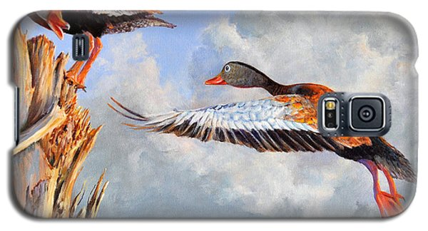 Galaxy S5 Case featuring the painting What Are You Whistling At by AnnaJo Vahle