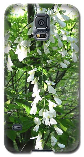 White Floral  Galaxy S5 Case