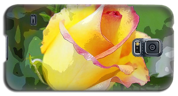 Galaxy S5 Case featuring the photograph Yellow Rose by Anne Mott