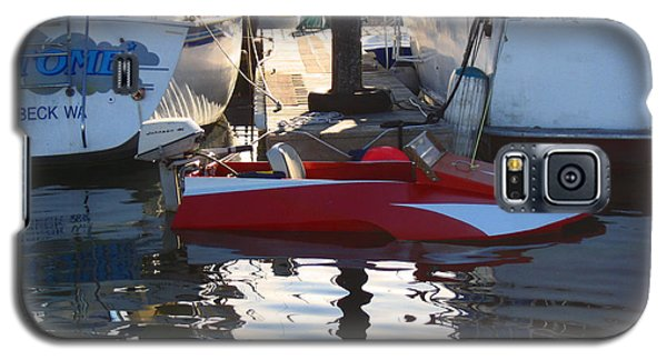 Galaxy S5 Case featuring the photograph 1950's Custom Hydroplane by Kym Backland